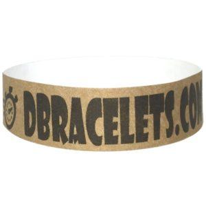 Bracelet bracelet tyvek 19mm avec marquage noir