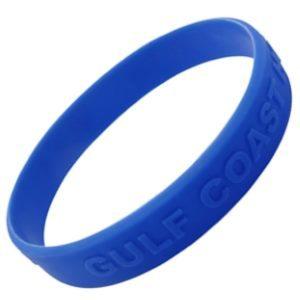 Bracelet Bracelet silicone adulte avec message en relief