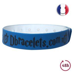 Bracelet Bracelet en vinyle avec marquage noir - 48 heures - Urgent