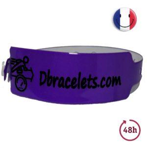 Bracelet Bracelet vinyle large avec marquage noir - Urgent - 48 Heures